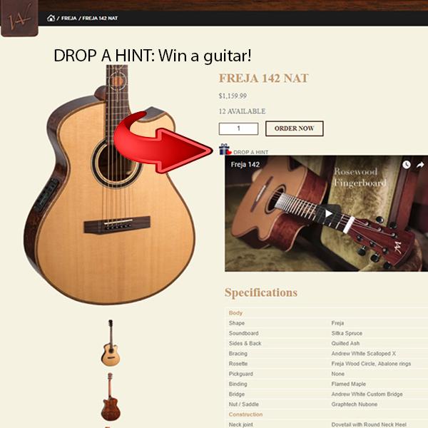 Drop A Hint Guitar Give Away!