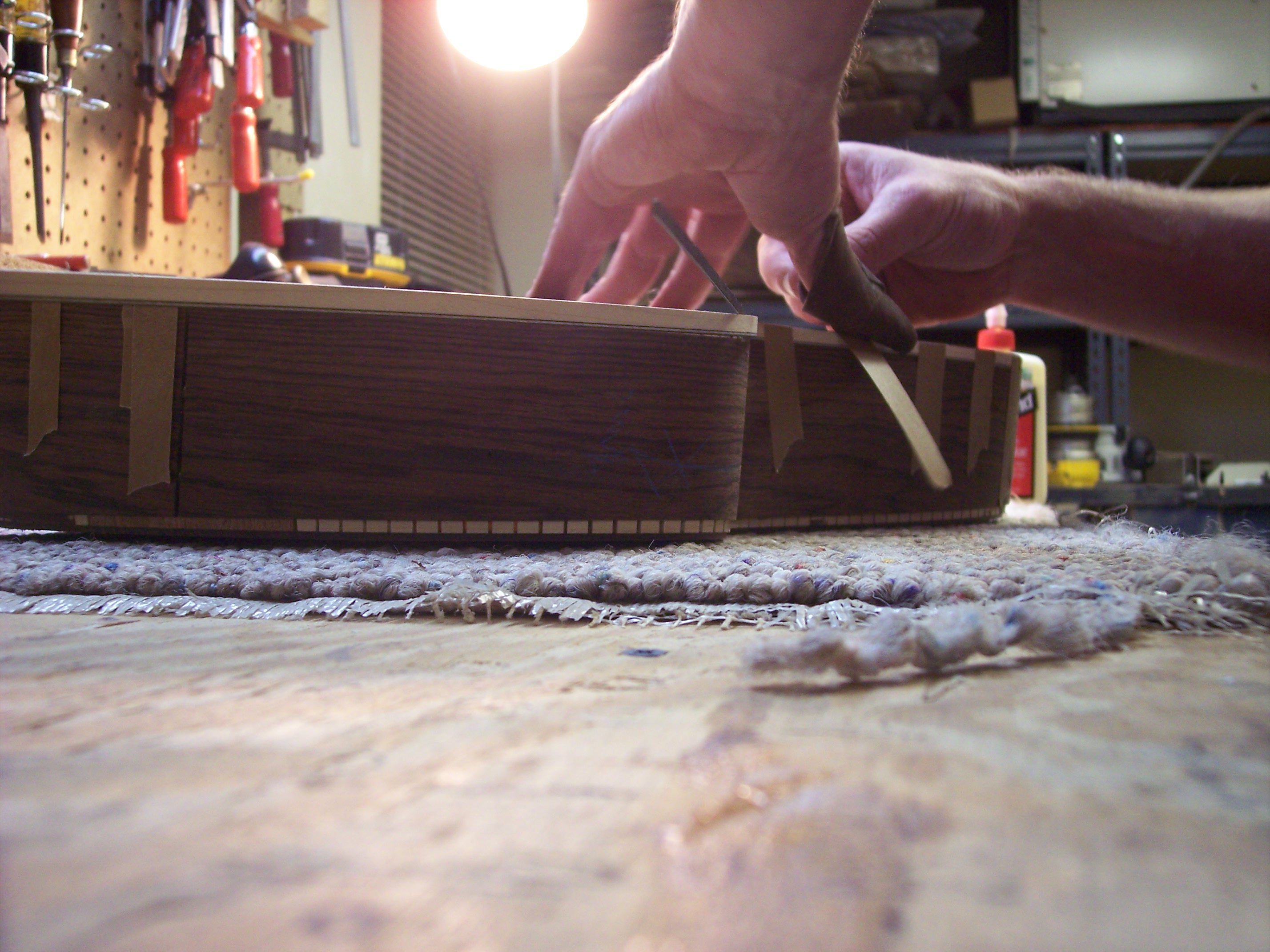In The Shop: Binding The Guitar Body