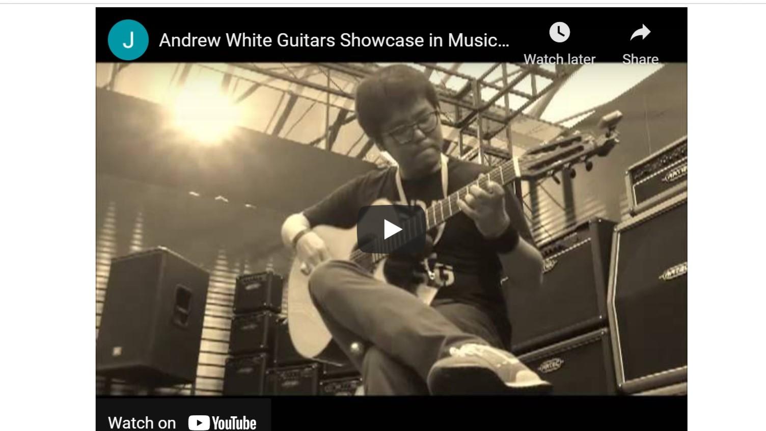 Andrew White Guitars Showcase in Music China